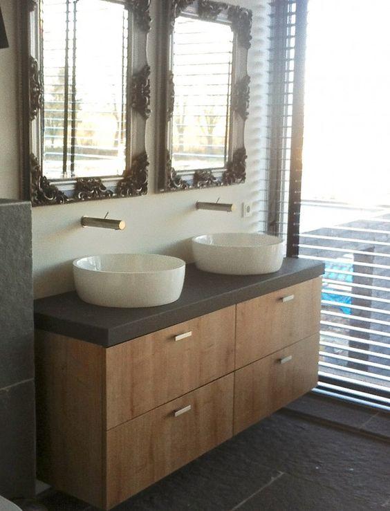 Wasbakken in de badkamer combi klassiek modern landelijk for Landelijk klassiek interieur