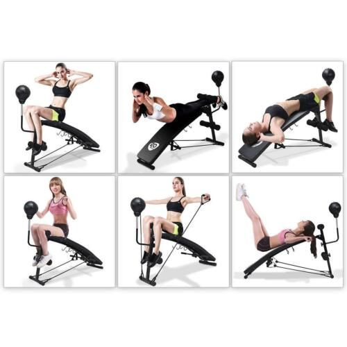 Adjustable Incline Curved Workout Fitness Sit Up Bench Exercise Muscle Indoor Ebay Curves Workout Bench Workout Efficient Workout