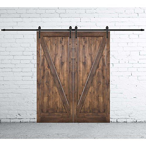 12ft Bypass Sliding Barn Door Hardware For 4 Doors Ebay Barn Door Bypass Barn Door Wood Closet Doors