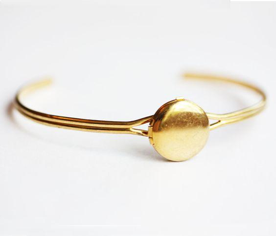 Gold Locket Bracelet