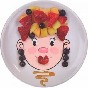 Ms. Food Face Kid Dinner Plate!  Meals will never be boring again! ;-)