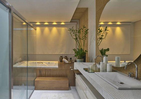 Residência AM: Banheiros Moderno por Isabela Canaan Arquitetos e Associados