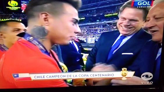 COPA AMERICA CENTENARIO 2016 - Ceremonia de premiación - Chile Campeon