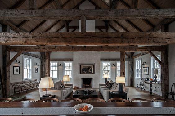 beautiful barn living
