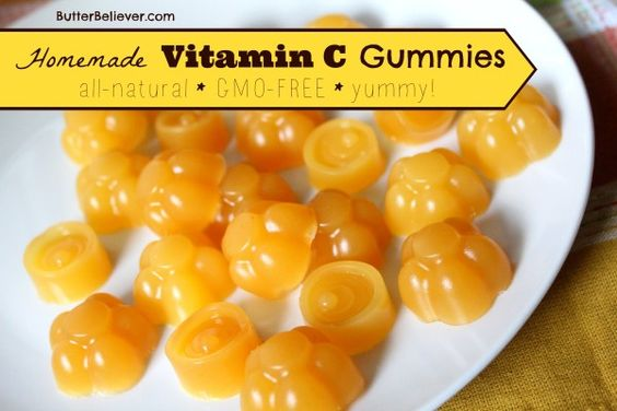 Forget Emergen-C! Make your own Vitamin C GUMMIES! They're tasty and all-natural. Most vitamin C supplements are GMO!