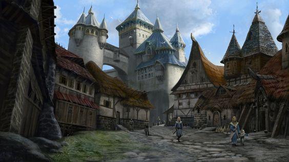 Quiet Elven Town by Skaya3000.deviantart.com on @DeviantArt