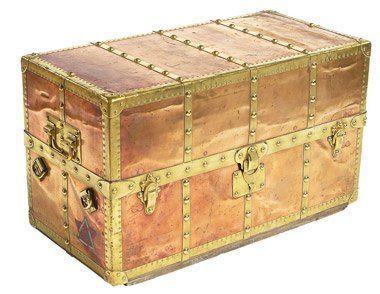 Vintage Vuitton golden trunk