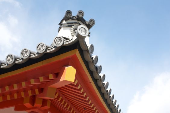 Kyoto Imperial Palace roof detail. 2012.