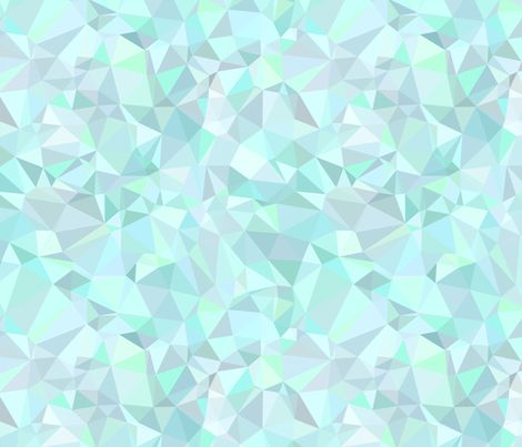 Mint Triangles fabric by kimsa on Spoonflower - custom fabric at $17.50/yd