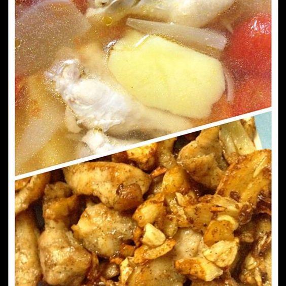 レシピとお料理がひらめくSnapDish - 84件のもぐもぐ - ซุปไก่+ไก่ทอดกระเทียม by Kajinuch