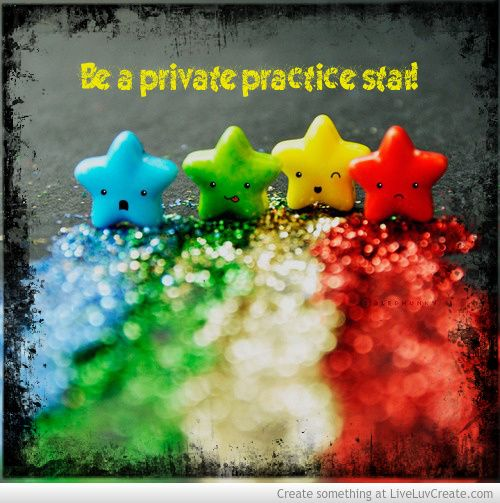 Be a private practice STAR! http://mbainprivatepractice.com/myob