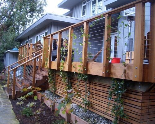 Deck Skirting What S Everyone Using Decks Fencing Deck Skirting Cool Deck Building A Deck