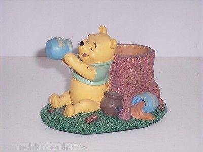Disney Winnie the Pooh Honey Pot Pencil Pen Holder Desk Figurine