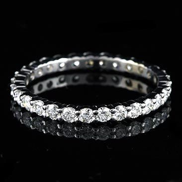 1Ct GVS Diamond Eternity Wedding Band 18K White Gold by OroSpot, $1720.00