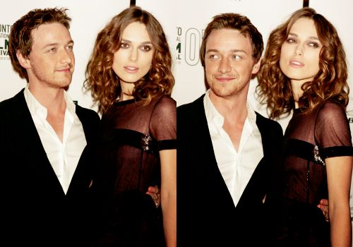 James McAvoy and Kiera Knightley