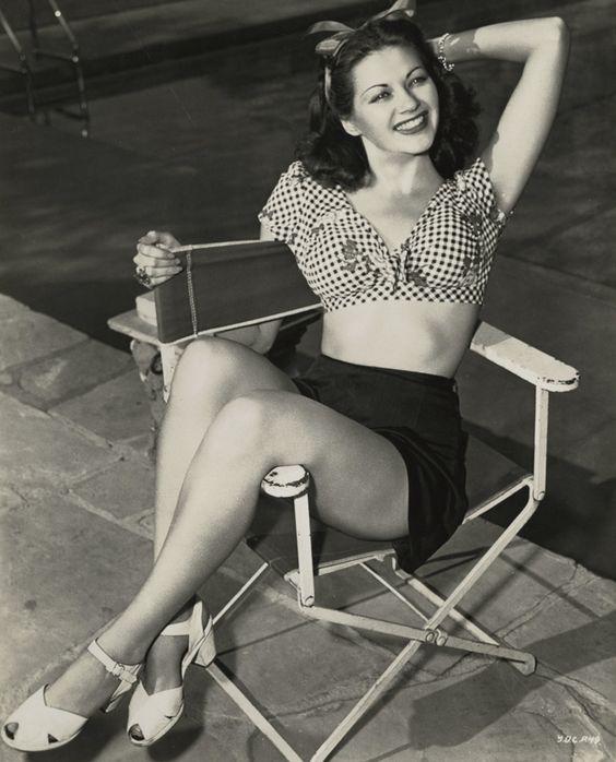 """Yvonne De Carlo, la popular Séfora en la película """"Los diez mandamientos"""" (1944)."""