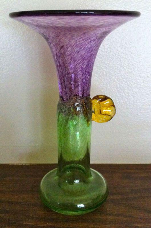 Mid century kosta boda bertil vallien artist collection vase kingdom of crystal swedish - Glass art by artis ...
