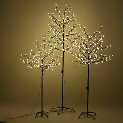 Lightshare 6 Ft Pre Lit Cherry Blossom Tree With 208 Warm White Lights Xths208b6ft Ww The Home Depot Cherry Blossom Tree Blossom Trees Fiber Optic Christmas Tree