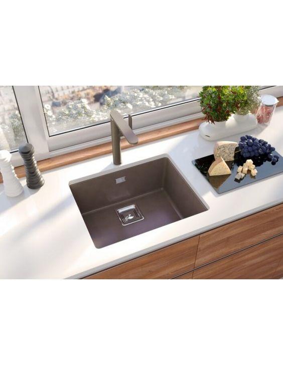Alveus Quadrix 50 Granital Plus Undermounted Sink Chocolate
