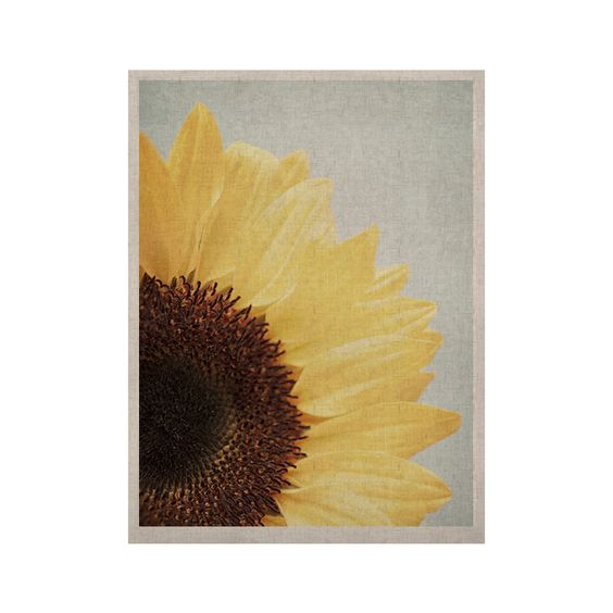 "Susannah Tucker ""Sunshine"" Sunflower KESS Naturals Canvas (Frame not Included)"