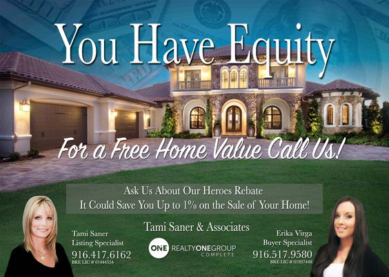 We have buyers looking to purchase homes in Rocklin, Roseville, Loomis, GraniteBay, Folsom, Lincoln, Auburn and Sacramento before rates go up, if you or someone you know is ready to sell and cash in on all your equity call me today for free home value! Ask about our Heroes Rebate to save up to 1% on the sell of your home! Tami Saner 916-417-6162