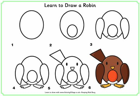Learn To Draw A Robin Simple Things I Might Actually Be Able Pinterest
