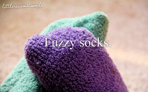 Love these, especially knee high fuzzy socks. Right @unifish?