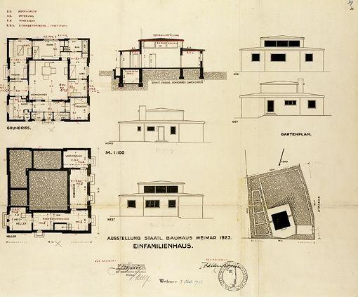 Gropius Adolf Meyer Plan De Haus Am Horn Da 20 4