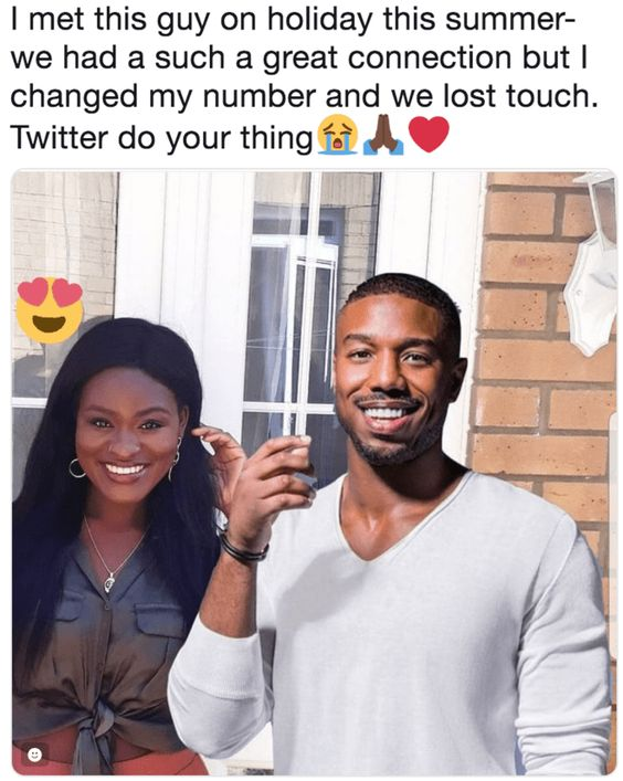 Girl Gets Roasted On Twitter For Fake Pic Of Her And Michael B. Jordan Together