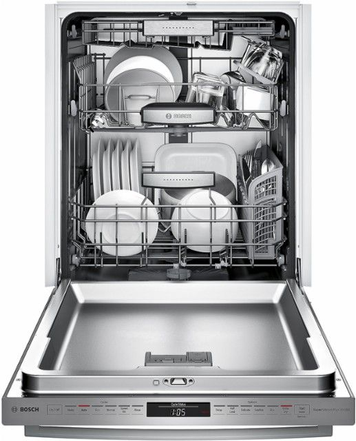 Best Buy Bosch 800 Series 24 Bar Handle Dishwasher With Stainless Steel Tub Stainless Steel Shxm98w75n Built In Dishwasher Integrated Dishwasher Bosch Dishwashers