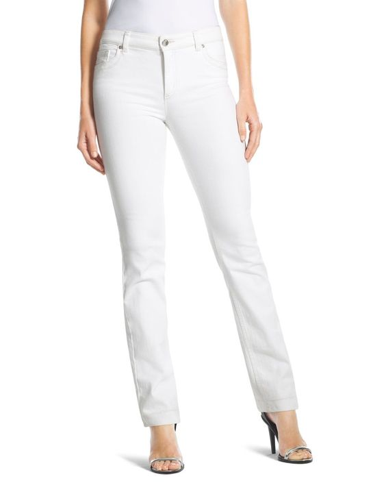Chico's Women's So Lifting Slim-Leg Jeans in Optic White | White ...