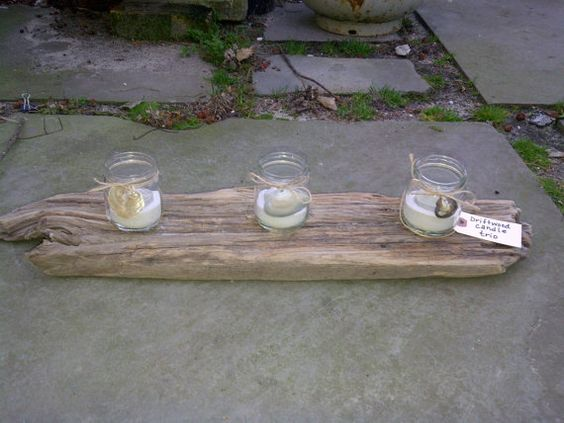 Driftwood Candle Trio by zoegirlgifts on Etsy, $22.50