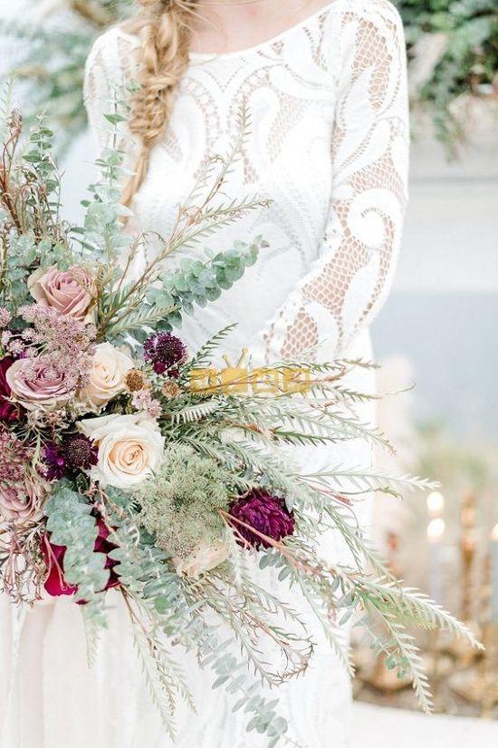 اجمل صور بوكيه ورد لاعياد الميلاد وللأحبه موقع مصري Wedding Flowers Bridal Bouquets Shabby Chic Wedding Bouquet Rustic Wedding Bouquet