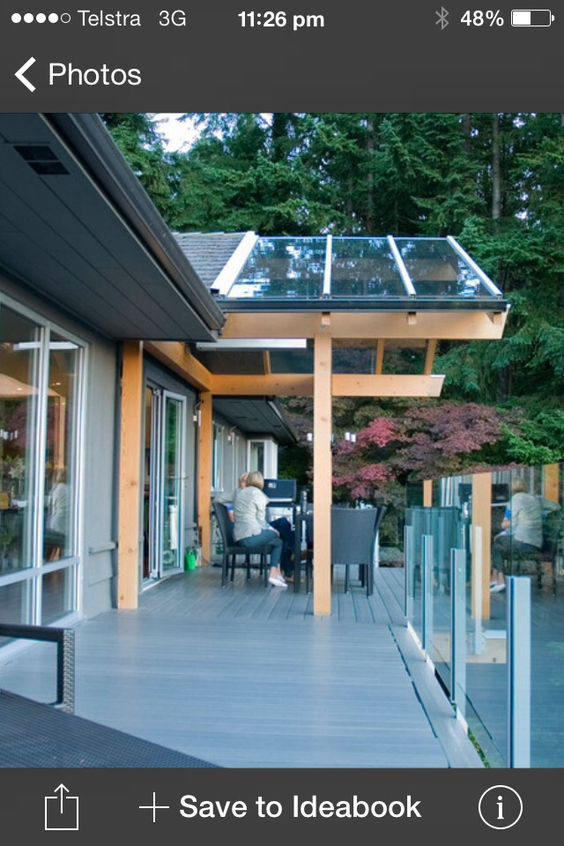 Cool Glass Roof Or Change Of Roof Material Idea Glass Roof Covered Patio Design Modern Windows Design