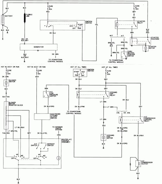 Wiring Diagram For 92 Honda Prelude
