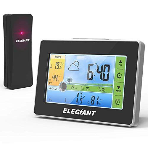 NEU LCD Digital Thermometer Wetterstation Innen Außen Funk Temperatur Station DE