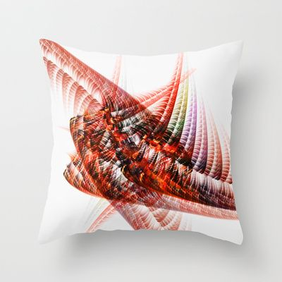 Red 88 Throw Pillow by Jean-François Dupuis - $20.00
