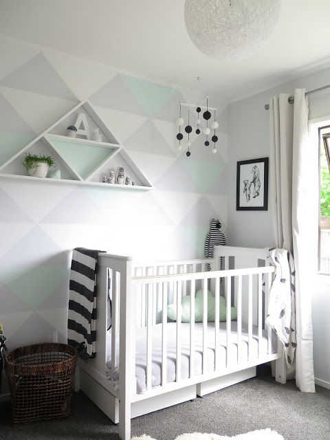 Nurseries Feature Walls And Triangle On Pinterest