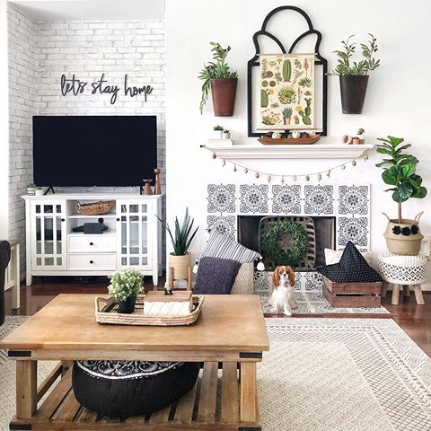 Boho Living Room Mantel Decor Living Room Inspiration