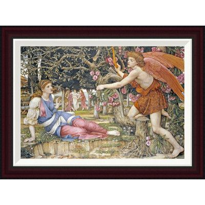 Global Gallery Love and The Maiden by John Roddam Spencer Stanhope Framed Painting Print Size: