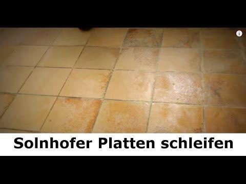 Solnhofer Platten Marmorboden Reinigen Schleifen Polieren Und Aufarbeiten Steindoktor Youtube Marmorboden Boden Steinboden
