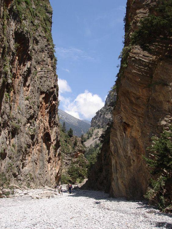 Samaria Gorge. A view of Samaria Gorge, Crete, Greece , #Sponsored, #Gorge, #Samaria, #view, #Greece, #Crete #ad