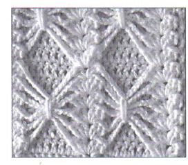 Free crochet pattern Bow Tie Stitch Afghan Square