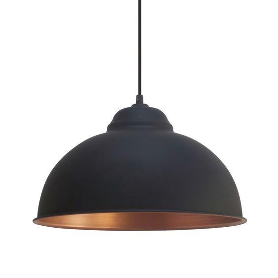 Eglo Vintage (49247) Black and Copper 370 Pendant | Breakfast Bar Lights | Kitchen Lighting | Dusk Lights - Modern Home Lighting