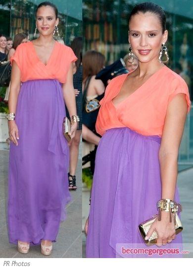 Pictures : Celebrity Maternity Style - Jessica Alba in DVF Maxi ...