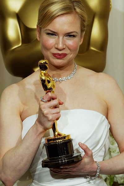 Renée Zellweger won the Academy Award for Best Supporting Actress for her performance in the drama Cold Mountain (2003).