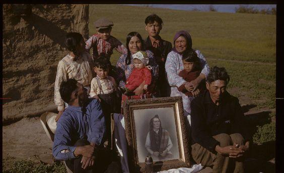 Poundmaker family' ~ (Cree) ~ Cut Knife, Sask 1942