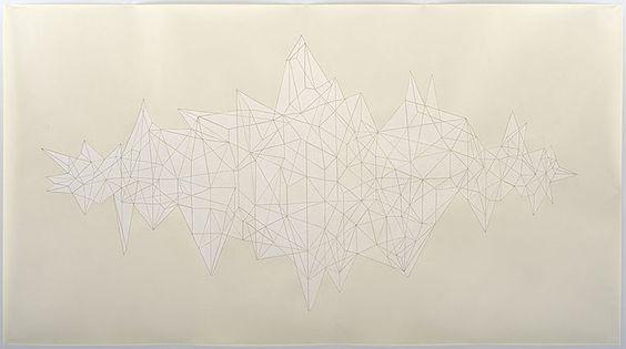 "Pressure Drop, 2005, Ink on Paper, 38.25"" x 69.75"""