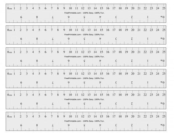 Printable Ruler Inches And Cm | Printable | Pinterest | Free printable