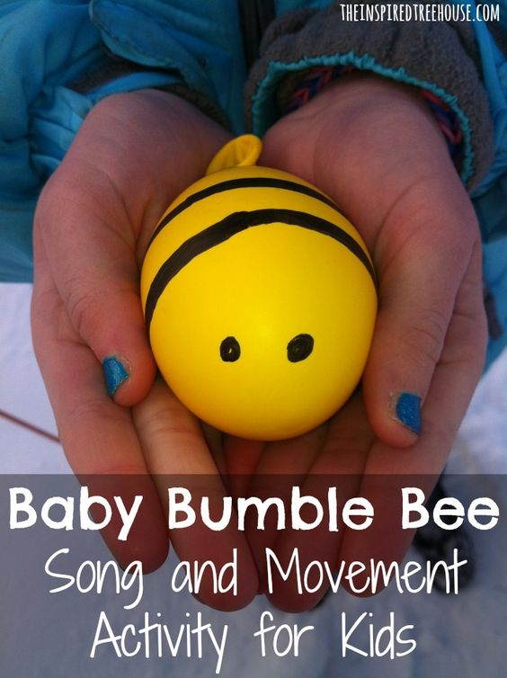 baby bumble bee song and movement activities for kids